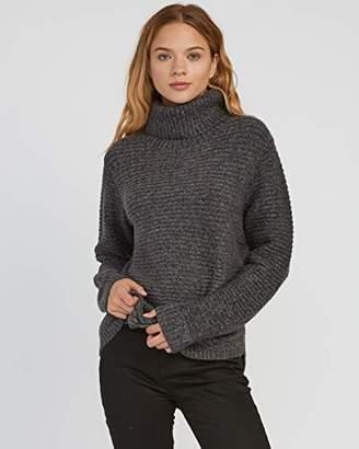 RVCA Junior's Jinx Cowl Neck Sweater