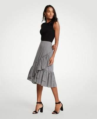Ann Taylor Petite Micro Gingham Fiesta Skirt