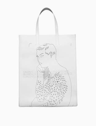 Calvin Klein tote x andy warhol in nappa leather