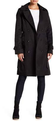 London Fog Double Tie Waist Trench Coat