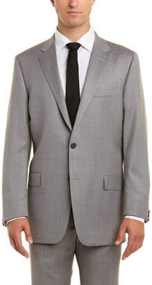 Hickey Freeman 2Pc Wool Suit With Pleated Pant