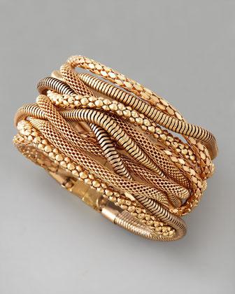 Cara Accessories Multi-Chain Magnetic Bracelet