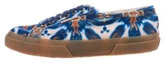 Superga Velvet Printed Sneakers