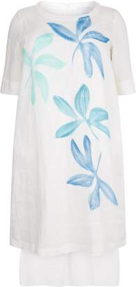 Marina Rinaldi Linen Canvas Dress