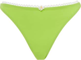 Solid & Striped Eva Rickrack-Trimmed Bikini Briefs Size: L