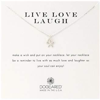 Dogeared Live Love Laugh' Flower Charm Bead Sterling Chain Necklace