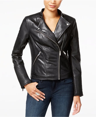 Bar III Faux-Leather Moto Jacket, Only at Macy's $109.50 thestylecure.com