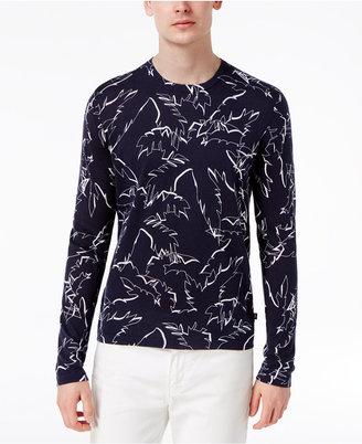 Michael Kors Men's Palm-Print Cotton Sweater $149.50 thestylecure.com