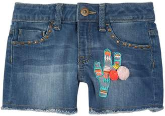 Billieblush Cactus Embroidered Denim Shorts