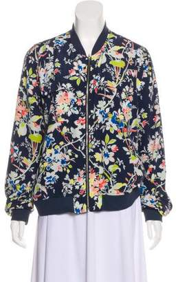 Equipment Printed Silk Bomber Jacket