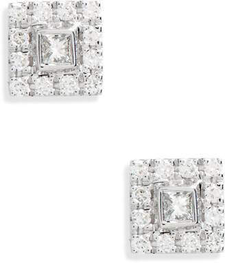 Bony Levy Amara Small Square Diamond Stud Earrings
