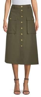 Escada Sport Button Midi Safari Skirt