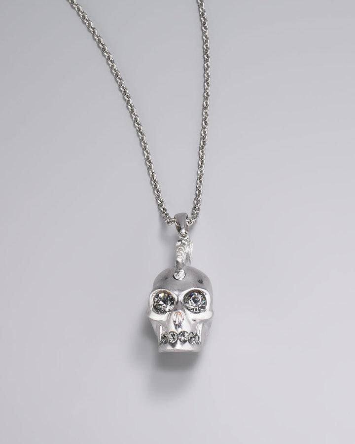 Alexander McQueen Mohawk Skull Pendant Necklace