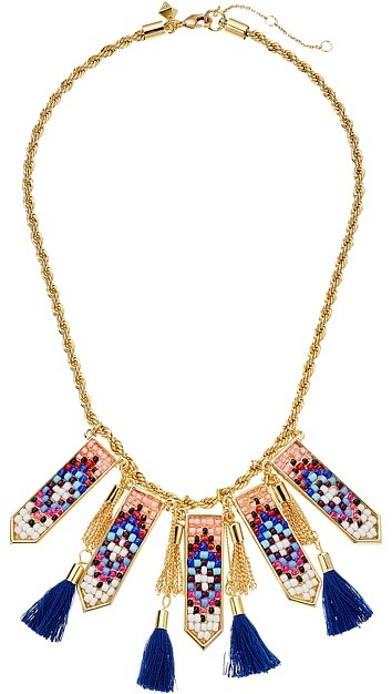 Rebecca MinkoffRebecca Minkoff - Catalina Seed Bead Statement Bib Necklace Necklace