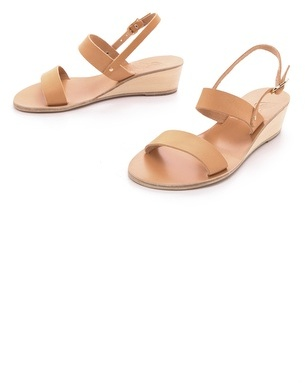 Ancient greek sandals Clio Demi Wedge Sandals