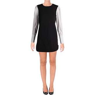 Kensie Women's Cozy Fleece Sweatshirt with Stripe Sleeve