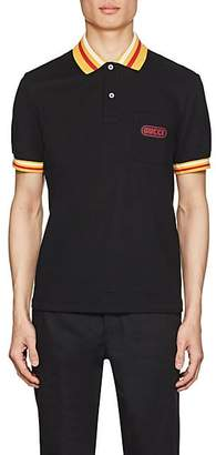 Gucci Men's Logo-Detailed Stretch-Cotton Piqué Polo Shirt - Black