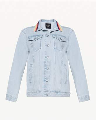 Juicy Couture Embroidered Stripe Denim Jacket