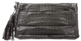 Nancy Gonzalez Crocodile Chain-Link Clutch
