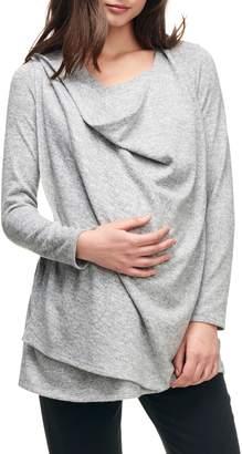 Maternal America Maternity/Nursing Wrap Top