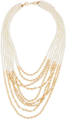 Lydell NYC Multi-Strand Pearly-Half Necklace
