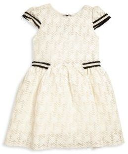 Zoe Girl's Black & White Lattice Lace Dress $198 thestylecure.com