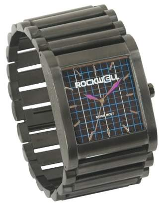 Rockwell Men's RK108 Rook Stainless Steel Gunmetal and Plaid Watch