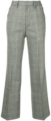Kolor monotone checked trousers