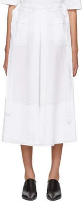 Marni White Poplin Front Pocket Skirt