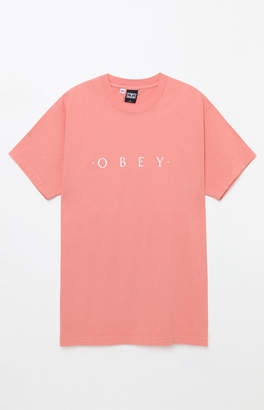 Obey Novel Pink T-Shirt
