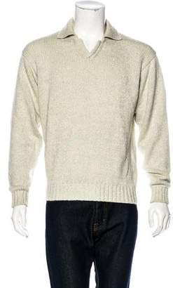 Loro Piana Cashmere-Blend Polo Sweater