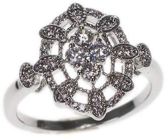 Kenneth Jay Lane CZ By CZ Detail Filigree Ring