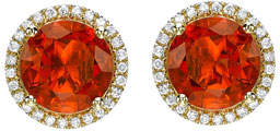 Kiki McDonough Grace Fire Opal & Diamond Halo Stud Earrings