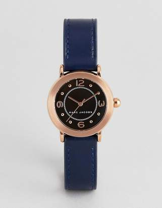 Marc Jacobs MJ1577 ladies navy leather watch