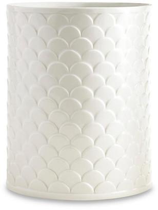 Kassatex Scala Porcelain Wastebasket - White