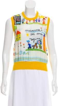 Dolce & Gabbana Mama Print Cashmere Sweater