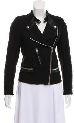 IRO Leather Accented Wool Jacket