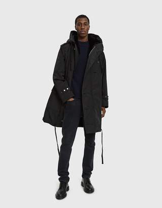 Dries Van Noten Hooded Poly Jacket in Black