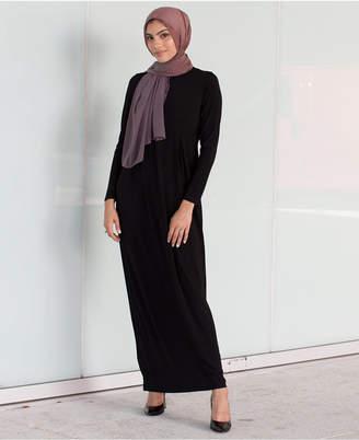 Box-Pleat Maxi Dress