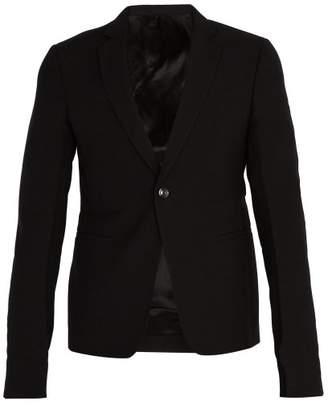 Rick Owens Single Breasted Wool Blazer - Mens - Black