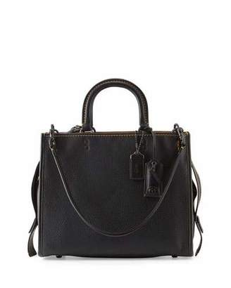 Coach 1941 Rogue Small Leather Tote Bag, Black $795 thestylecure.com