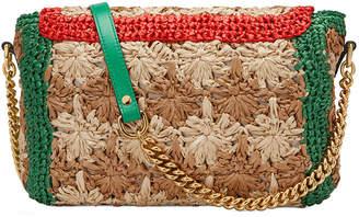 c39f6b2e3371 Gucci GG Marmont 2.0 Small Raffia Shoulder Bag