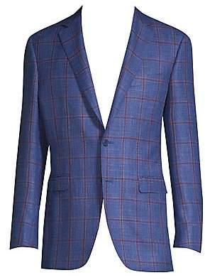 Canali Men's Contrast Window Sportcoat
