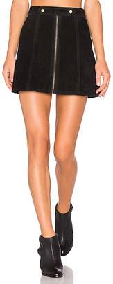 Understated Leather x REVOLVE High Waist Suede Zip Skirt