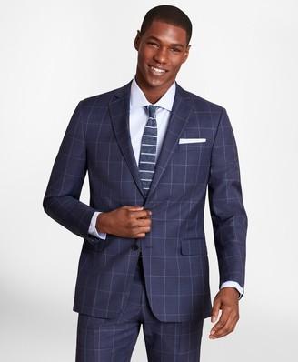 Brooks Brothers BrooksGate Regent-Fit Windowpane Wool Twill Suit Jacket