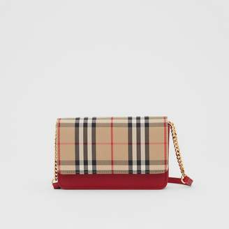 Burberry Vintage Check Canvas and Leather Bag