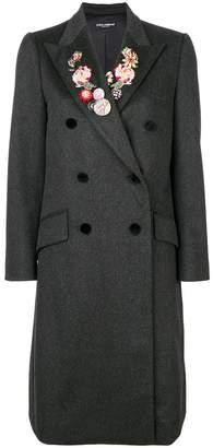 Dolce & Gabbana floral lapel coat