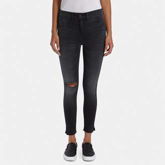 Rag & Bone 10-Inch Capri with Slit Jean in Steele
