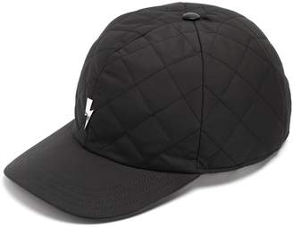Neil Barrett Lightning-bolt quilted cap