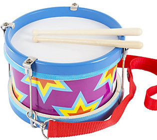 Hey! Play! Double-Sided Toy Marching Drum and Drum Sticks